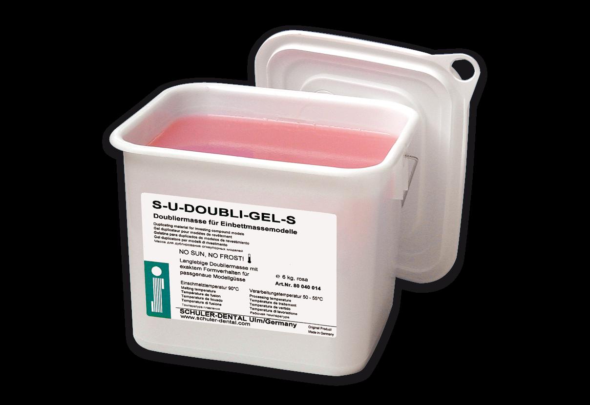 S-U-DOUBLI-GEL-S Präzisions-Doubliermasse für die Co-Cr-Modellgusstechnik.
