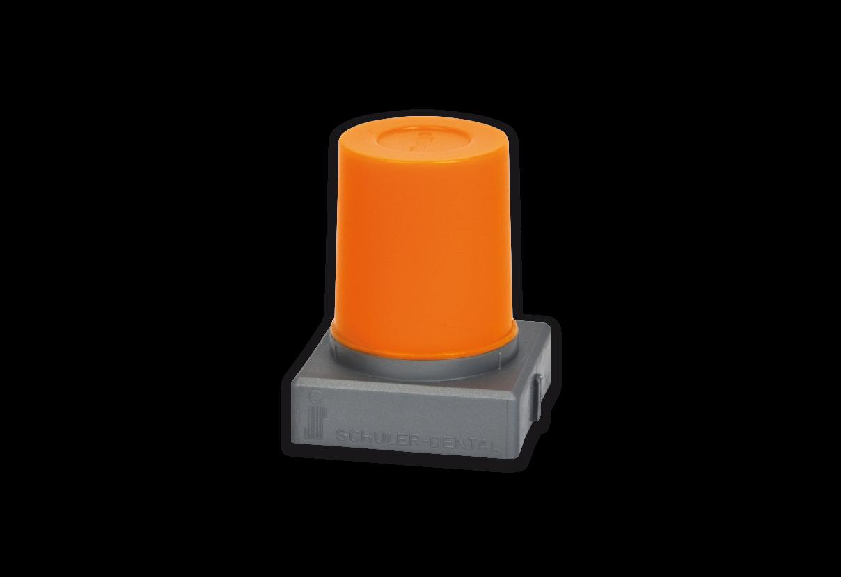 S-U-UNTERZIEHWACHS orange, bleitot, auch für Cervikalränder