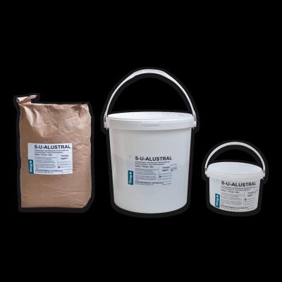 S-U-ALUSTRAL aluminium-oxide abrasive powders. A pure, white precious corundum.